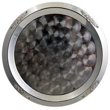 """20"""" Round Silver Tray"""