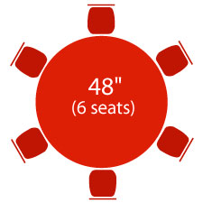 "48"" Round Table - 6 Seats"
