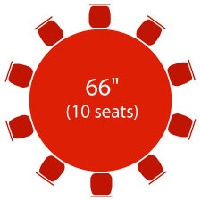 "66"" Round Table - 10 Seats"